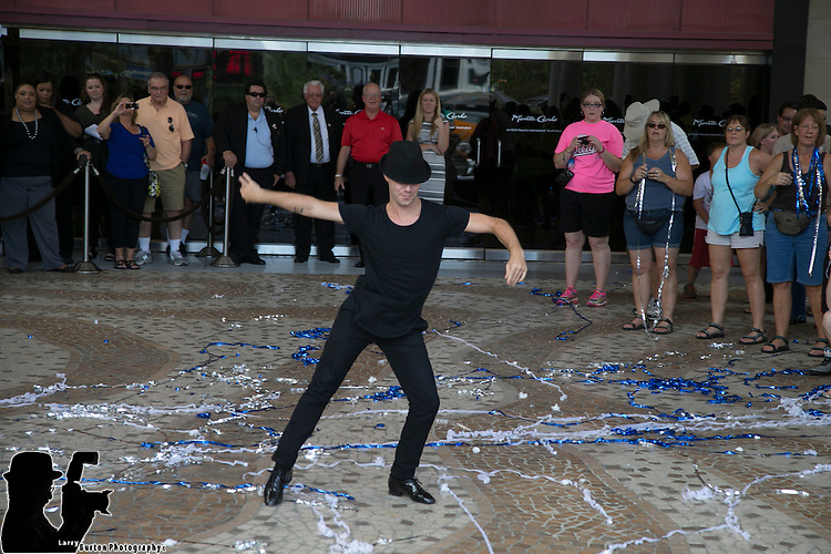 "MGM Resorts host a Las Vegas National Dance Day event on Monte Carlo's Plaza Saturday, July 26 Entertainers from various MGM Resorts properties joined employees and the general public at the newly renovated venue to celebrate National Dance Day. Sasha Farber from ""Dancing with the Stars"