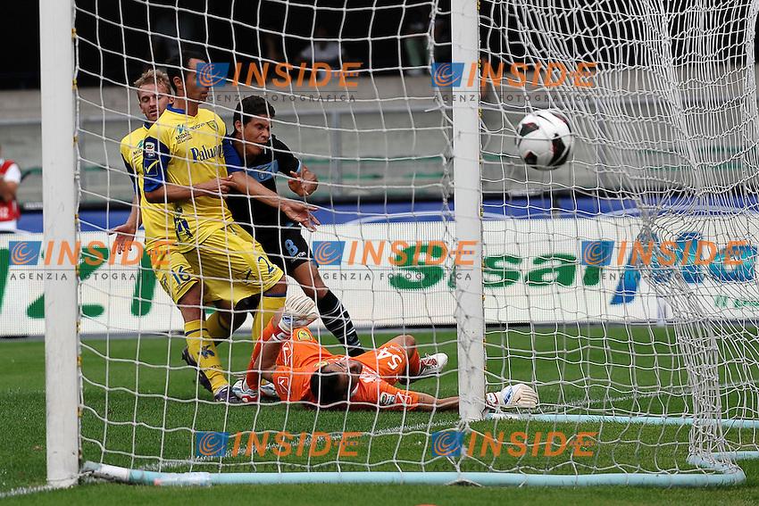 "Gol di Hernanes 0-3.Goal celebration.Verona 16/9/2012 Stadio ""Bentegodi"".Football Calcio Serie A 2012/2013.Chievo Vs Lazio.Foto Andrea Staccioli Insidefoto"