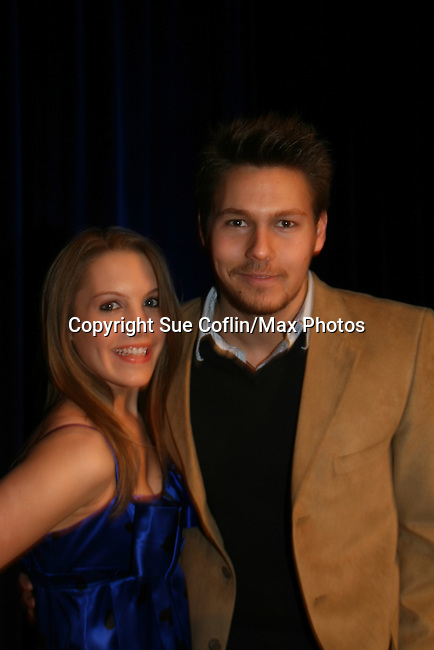 OLTL's Kristen Alderson and Scott Clifton at the HeartShare Human Services 2009 Spring Gala and Auction on March 24, 2009 at the New York Marriott Marquis, New York City, NY. (Photos by Sue Coflin/Max Photos)