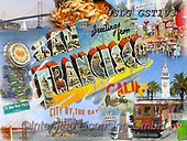 MODERN, MODERNO, paintings+++++GST_San Francisco Greetings,USLGGST193,#N#, EVERYDAY ,collages,puzzle,puzzles ,photos ,Graffitees