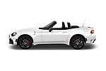Car driver side profile view of a 2017 Abarth 124 Spider Base 2 Door Convertible