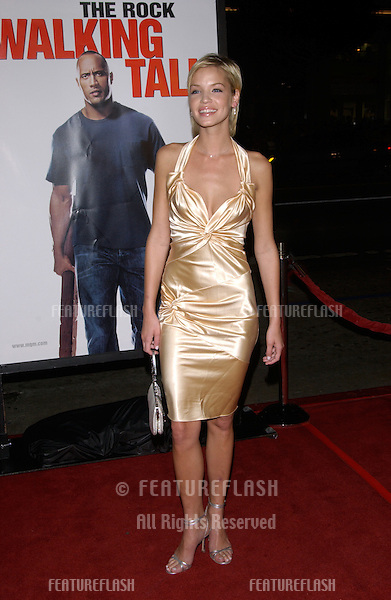 Actress ASHLEY SCOTT at the world premiere, in Hollywood, of her new movie Walking Tall..March 29, 2004