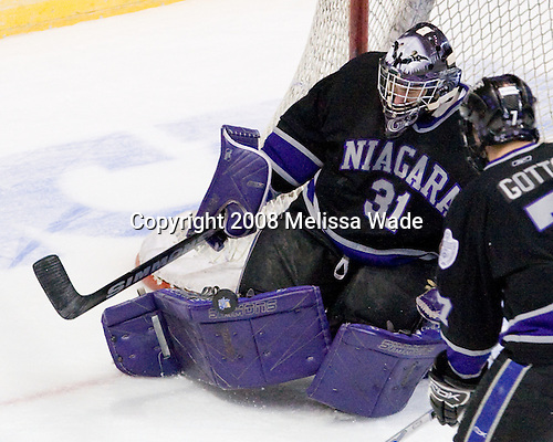 Juliano Pagliero (Niagara - 31) - The University of Michigan Wolverines defeated the Niagara University Purple Eagles 5-1 in their Friday, March 28, 2008, East Regional Semi-Final at the Times Union Center in Albany, New York.