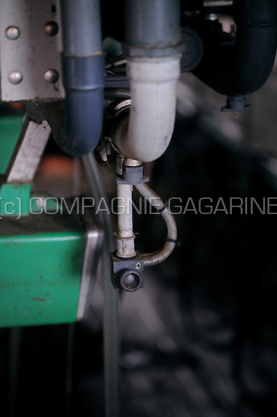 "Milking machinery in ""la Ferme d'Alvaux"", a farm in Perwez (Belgium, 25/05/2008)"