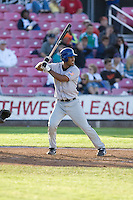 July 7, 2009: Tri-City Dust Devils catcher Jose Gonzalez at-bat during a Northwest League game against the Salem-Keizer Volcanoes at Volcanoes Stadium in Salem, Oregon.