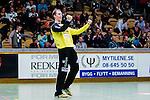 Stockholm 2013-10-20 Handboll Elitserien Hammarby IF - Alings&aring;s HK :  <br /> Alings&aring;s m&aring;lvakt 16 Mikael Aggefors jublar efter matchen och segern &ouml;ver Hammarby<br /> (Foto: Kenta J&ouml;nsson) Nyckelord:  jubel gl&auml;dje lycka glad happy portr&auml;tt portrait