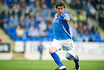 St Johnstone v Inverness Caley Thistle...15.10.11   SPL Week 11.Francisco Sandaza scores saints first goal.Picture by Graeme Hart..Copyright Perthshire Picture Agency.Tel: 01738 623350  Mobile: 07990 594431
