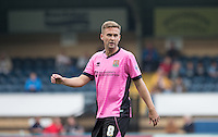 Joel Byrom of Northampton Town during the Sky Bet League 2 match between Wycombe Wanderers and Northampton Town at Adams Park, High Wycombe, England on 3 October 2015. Photo by Andy Rowland.