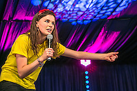 20th July 2014: Irish comedian, actor and writer Aisling Bea plays the Comedy Arena on the fourth day of the 9th edition of the Latitude Festival, Henham Park, Suffolk.<br /> Picture by Stuart Hogben