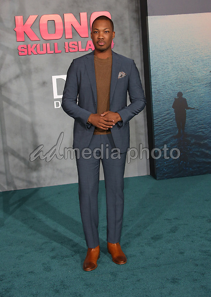 "08 March 2017 - Hollywood, California - Corey Hawkins. ""Kong: Skull Island"" Los Angeles Premiere held at Dolby Theatre. Photo Credit: AdMedia"