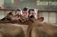 during the Junior Championship Dairy Jersey-NW Washington Fair. August 21, 2009 PHOTOS BY MERYL SCHENKER