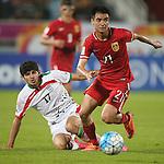IR Iran vs China PR during the AFC U23 Championship 2016 Group A match on January 18, 2016 at the Abdullah Bin Khalifa Stadium in Doha, Qatar. Photo by Karim Jaafar / Lagardère Sports