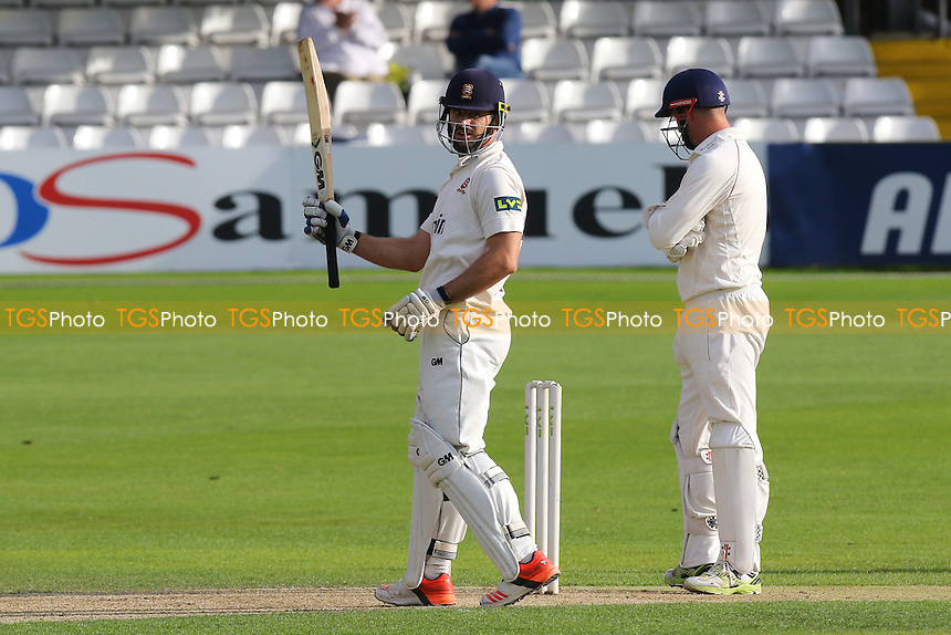 Ryan ten Doeschate of Essex celebrates scoring a half-century, 50 runs during Essex CCC vs Lancashire CCC, Day Two