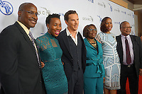 Co-Founder and COO of The GEANCO Foundations, Afam Onyema, poses with family and actor Benedict Cumberbatch.
