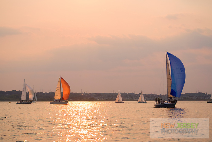 Sailing in Raritan Bay, Raritan Yacht Club, Perth Amboy, New Jersey