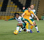 29.03.2019 Livingston v Hibs: Stephane Omeonga, Scott Pittman and Mark Milligan