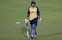 Tom Westley of Essex leaves the field having been caught during Lancashire Lightning vs Essex Eagles, Vitality Blast T20 Cricket at the Emirates Riverside on 4th September 2019