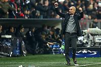 FUSSBALL CHAMPIONS LEAGUE  SAISON 2015/2016 ACHTELFINALE RUECKSPIEL FC Bayern Muenchen  - Juventus Turin      16.03.2016 Trainer Pep Guardiola (FC Bayern Muenchen) jubelt nach dem Abpfiff