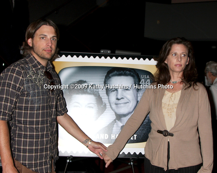 Sam Nelson & sister Tracy Nelson at the USPS Stamp Unveiling of Stamps honoring  Early Television Memeoris at the TV Academy in No Hollywood, CA  on August 11,  2009 .©2009 Kathy Hutchins / Hutchins Photo.