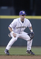 03 April 2009:  Washington shortstop #15 Andy Bethel sets up against Arizona State at Safeco Field in Seattle, WA.  Arizona State won 3-1 over Washington.