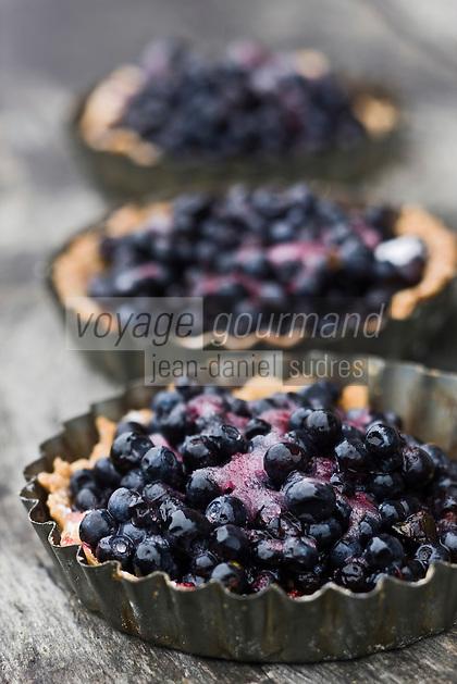 Europe/France/Rhône-Alpes/74/Haute-Savoie/Le Grand-Bornand: Tarte au myrtilles au restaurant d'altitude:La cheminée au Col des Annes