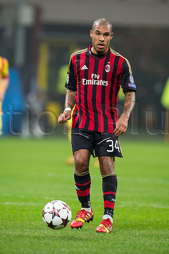 22.10.l2013. Milan, Italy. UEFA Champions League football. AC Milan versus FC Barcelona. Group stages. Nigel de Jong (Milan),  at Stadio Giuseppe Meazza in Milan, Italy.