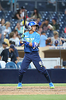 Tyler Freeman (15) of the West Team bats against the East Team during the Perfect Game All American Classic at Petco Park on August 14, 2016 in San Diego, California. West Team defeated the East Team, 13-0. (Larry Goren/Four Seam Images)