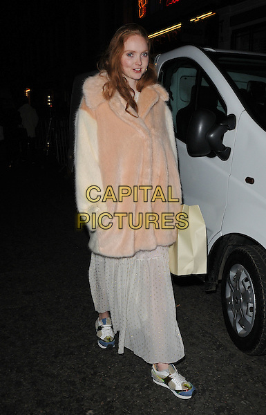 Lily Cole attends the Stella McCartney 2015 Christmas Lights switch on party, Stella McCartney boutique, Bruton Street, London, England, UK, on Wednesday 25 November 2015.<br /> CAP/CAN<br /> &copy;CAN/Capital Pictures