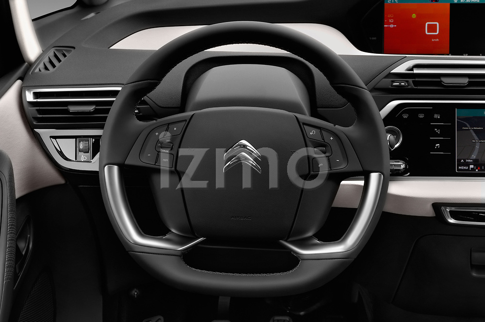 Car pictures of steering wheel view of a 2017 Citroen C4-Picasso Shine 5 Door Mini Mpv Steering Wheel