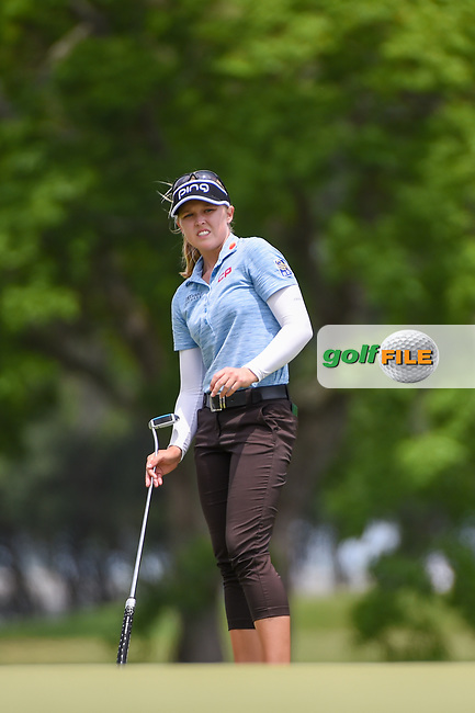 Brooke M. Henderson (CAN) watches her long birdie attempt on 1 during round 2 of the 2019 US Women's Open, Charleston Country Club, Charleston, South Carolina,  USA. 5/31/2019.<br /> Picture: Golffile | Ken Murray<br /> <br /> All photo usage must carry mandatory copyright credit (© Golffile | Ken Murray)