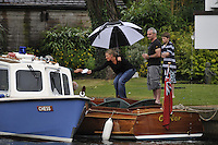 Henley, GREAT BRITAIN,  Condor  owners getting  a ticket at 2008 Henley Royal Regatta, on  Sunday, 06/07/2008,  Henley on Thames. ENGLAND. [Mandatory Credit:  Peter SPURRIER / Intersport Images] Rowing Courses, Henley Reach, Henley, ENGLAND . HRR