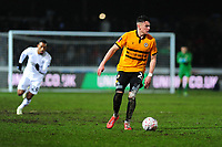 Regan Poole of Newport County during the FA Cup Fourth Round Replay match between Newport County and Middlesbrough at Rodney Parade in Newport, Wales, UK. Tuesday 05 February 2019