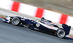 21.02.2012 Barcelona Spain. Formula One testind day1. Williams with Brazilian driver Bruno Senna