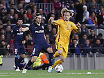 05.04.2016 Barcelona. Uefa Champions League Quarter-finals 1st leg. Game between FC Barcelona agaisnt Atletico de Madrid at Camp Nou. Picture show Rakitic and Filipiu luis