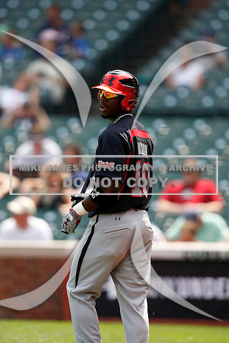August 8, 2009:  Outfielder/Pitcher Deshun Dixon (10) of the Baseball Factory team during the Under Armour All-America event at Wrigley Field in Chicago, Illinois.  (Copyright Mike Janes Photography)