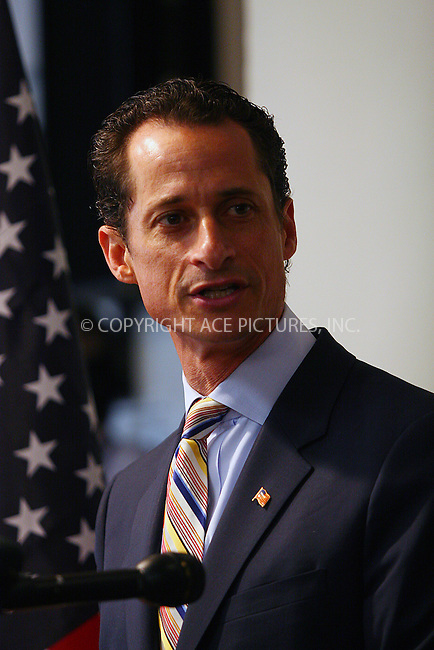 WWW.ACEPIXS.COM ************....June 16 2011, New York City....Representative Anthony D. Weiner, a New York Democratic Congressman from Brooklyn and Queens has resigned from Congress following a 'sexting ' scandal in which he sent lewd pictures of himself to several young women on line on June 16 2011 in New York City....Please byline: CURTIS MEANS - ACEPIXS.COM.. *** ***  ..Ace Pictures, Inc:  ..tel: (646) 769 0430..e-mail: info@acepixs.com..web: http://www.acepixs.com