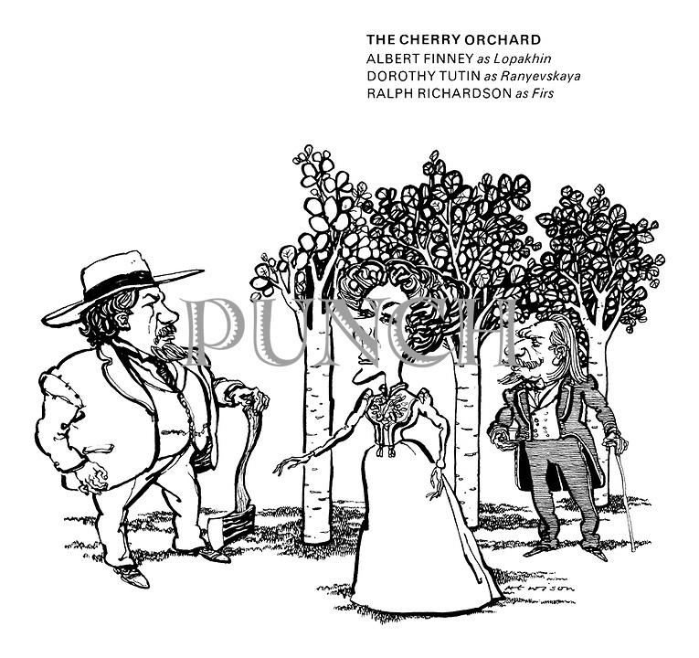The Cherry Orchard. Albert Finney as Lopakhin, Dorothy Tutin as Ranyevskaya, Raplh Richardson as Firs