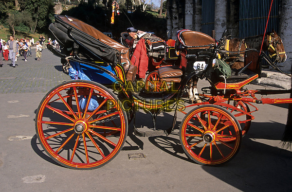 Carriage outside the Colosseum, Rome, Italy