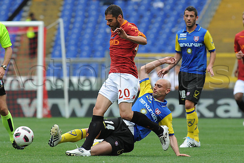 23 04 2011  Simone Perrotta Roma Roma versus Chievo.  Series A Stadio Olimpico Rome, Italy.