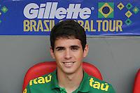 BRASILIA, DF, 07.09.2013 - 07.09.2013 - BRASIL X AUSTRÁLIA/AMISTOSO:  Oscar durante partida amistosa entre Brasil x Austrália, no Estádio Nacional Mané Garrincha.(Foto: Vanessa Carvalho / Brazil Photo Press).
