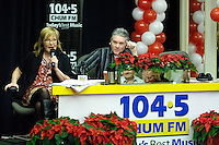 Toronto (ON), December 14, 2007 - Marilyn and Roger host  CHUM FM's  Annual Christmas Wish Live Broadcast at Sutten Place Hotel in Toronto.