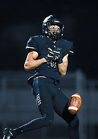 NWA Democrat-Gazette/CHARLIE KAIJO Bentonville wide receiver Chas Nimrod (5) misses a pass, Friday, November 29, 2019 during the Class 7A semifinal at Bentonville High School in Bentonville.