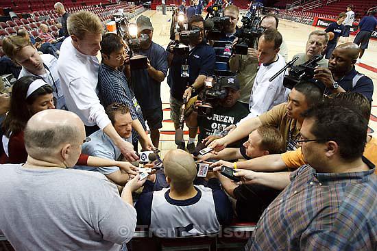 Houston - Utah Jazz off-day practice Sunday, April 20, 2008 at the Toyota Center. Utah Jazz forward Carlos Boozer (5)