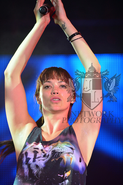 COCONUT CREEK, FL - MARCH 22: Former member of The Pussycat Dolls Jessica Sutta performs during rehearsal for The Knockouts Burlesque Show at Seminole Casino Coconut Creek on March 21, 2013 in Coconut Creek, Florida. (Photo by Johnny Louis/jlnphotography.com)