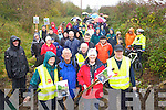 Joe Cotter, Sammy Locke, Mayor Grace O'Donnell and Colm McLoughlin with the large group that walked on the Fenit walkway on Sunday.