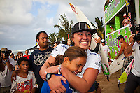 HALEIWA, HI (Nov. 28, 2009) --  The WCT Gidget Pro at Sunset Beach was won today by Hawaiin surfer Carissa Moore (HAW). Runner up was Sally Fitzgibbons (AUS) with newly crown 2009 World Professional Surfing Champion Stephanie Gilmore (AUS) with Alana Blanchard (HAW) in fourth...Gilmore won the 2009 Title when Coco Ho (HAW) failed to advance from the semi finals. It is Gilmore's third straight world title win... The northern hemisphere winter months on the North Shore signal a concentration of surfing activity with some of the best surfers in the world taking advantage of swells originating in the stormy Northern Pacific. Notable North Shore spots include Waimea Bay, Off The Wall, Backdoor, Rocky Point, Log Cabins, Rockpiles and Sunset Beach... Ehukai Beach is more  commonly known as Pipeline and is the most notable surfing spot on the North Shore. It is considered a prime spot for competitions due to its close proximity to the beach, giving spectators, judges, and photographers a great view...The North Shore is considered to be one the surfing world's must see locations and every December hosts three competitions, which make up the Triple Crown of Surfing. The three men's competitions are the Reef Hawaiian Pro at Haleiwa, the O'Neill World Cup of Surfing at Sunset Beach, and the Billabong Pipeline Masters. The three women's competitions are the Reef Hawaiian Pro at Haleiwa, the Gidget Pro at Sunset Beach, and the Billabong Pro on the neighboring island of Maui...Photo: Joliphotos.com