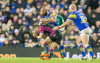 Picture by Allan McKenzie/SWpix.com - 08/02/2018 - Rugby League - Betfred Super League - Leeds Rhinos v Hull KR - Elland Road, Leeds, England - Hull KR's Danny McGuire is tackled by Jamie Jones-Buchanan.