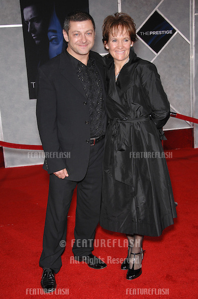 "ANDY SERKIS & wife LORRAINE ASHBOURNE at the world premiere, in Hollywood, of his new movie ""The Prestige""..October 17, 2006  Los Angeles, CA.Picture: Paul Smith / Featureflash"