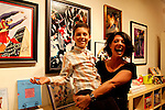 Christine Peake and Oliver Peake.Marvel Artworks Party.Every Picture Tells A Story Gallery.Santa Monica, California.29 July 2009.Photo by Nina Prommer/Milestone Photo