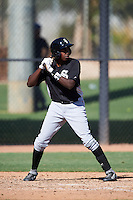 Chicago White Sox Josue Guerrero (27) during an Instructional League game against the San Francisco Giants on October 10, 2016 at the Camelback Ranch Complex in Glendale, Arizona.  (Mike Janes/Four Seam Images)